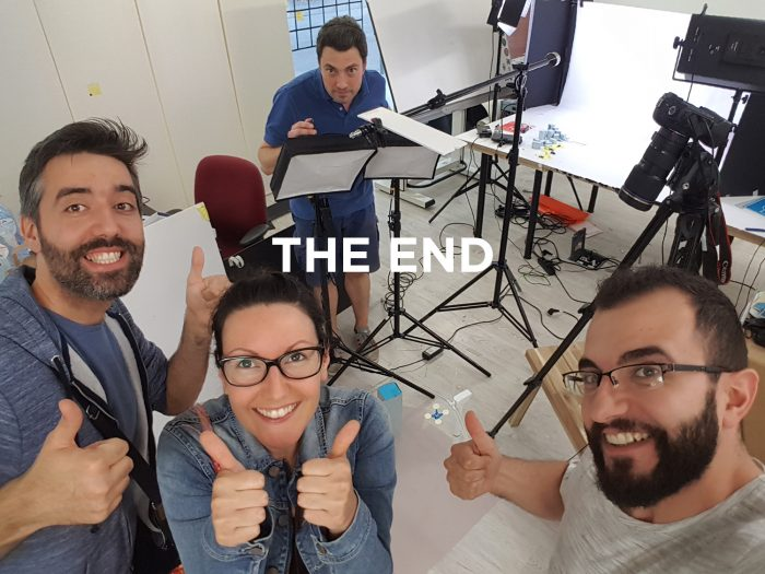 Making off Photo de fin - The End - Team - Florent Schirrer - Emilie Rousset - Tom Derrider- Orlando Campione